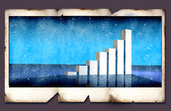 Business statistics. On Old Polaroid Frame Royalty Free Stock Images