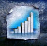 Business statistics. On Old Polaroid Frame Royalty Free Stock Photos