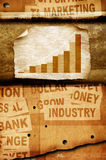Business statistics. On Old paper Stock Photo