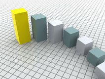 Business statistics. Three-dimensional graphic image. 3d business statistics Stock Image