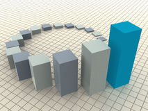 Business statistics. Three-dimensional graphic image. 3d business statistics Royalty Free Stock Photos