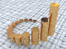 Business statistics. Three-dimensional graphic image. 3d business statistics Royalty Free Stock Photo