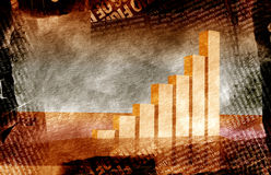 Business statistics. Graph on old paper background stock illustration