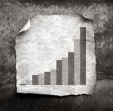 Business statistics. On old paper Royalty Free Stock Photography