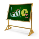 Business statistics accounting and financial report presentation concept Stock Images