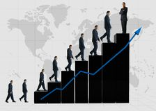 Business statistics - black graph Stock Photos