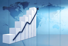 Business statistics in blue Stock Images
