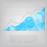 Business statistics chart showing growing graphs Stock Image