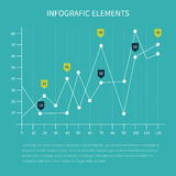 Business statistics charts. Detailed infographic elements. Business statistics charts showing various visualization graphs and numbers vector illustration