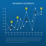 Business statistics charts Stock Photo