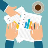 Business statistics design. Stock Photos