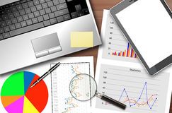 Business statistics Stock Image