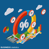 Business statistics, financial analytics, presentation vector concept Stock Photography