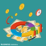 Business statistics, financial information vector concept Stock Images