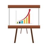 Business statistics flat icon design. Stock Photography