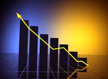 Business statistics graph Royalty Free Stock Photography