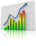Business statistics graph Royalty Free Stock Image