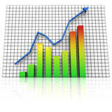 Business statistics graph rising Stock Image