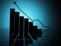 Business statistics graph silhouette Royalty Free Stock Images