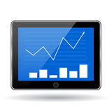 Business statistics graph. Stock Images