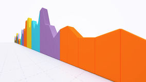Business statistics history. Business bar statistics for reports and presentations Stock Images