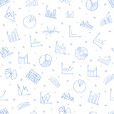 Business statistics icon set pattern. Business statistics icon set handmade style Royalty Free Stock Photos