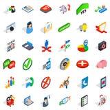 Business statistics icons set, isometric style. Business statistics icons set. Isometric style of 36 business statistics vector icons for web  on white Stock Photos