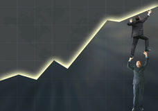 Business statistics - success Stock Image