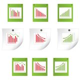 Business statistics. vector illustration Royalty Free Stock Photo