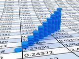 Business statistics. Very beautiful image. 3d business statistics Royalty Free Stock Images