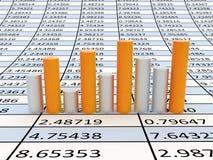 Business statistics. Very beautiful image. 3d business statistics Stock Photography
