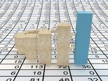 Business statistics. Very beautiful image. 3d business statistics Royalty Free Stock Photo