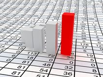 Business statistics. Very beautiful image. 3d business statistics Royalty Free Stock Photography