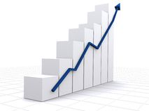 Business statistics in white Stock Images