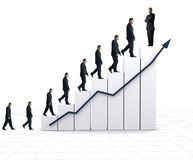 Business statistics - white graph Royalty Free Stock Images