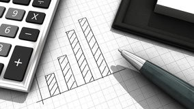 Business stats royalty free stock image