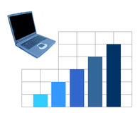 Business stats. A notebook and a chart vector illustration