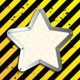 Business steel plate background. With vintage star Royalty Free Stock Image