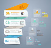Business step arrow infographic template. Stock Photography