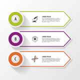 Business step options banner. Vector illustration. Infographics design template Royalty Free Stock Photo