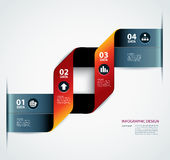 Business step paper data and numbers design template Stock Photos