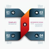 Business step paper data and numbers design template Stock Image