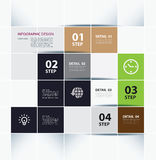 Business step paper lines and design template. Royalty Free Stock Photos