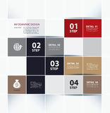 Business step paper lines and design template. Stock Image