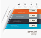 Business step paper lines and design template. Stock Photography