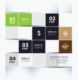Business step paper lines and design template. Royalty Free Stock Image