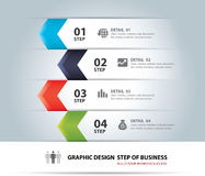 Business step paper lines and numbers design template. Royalty Free Stock Images