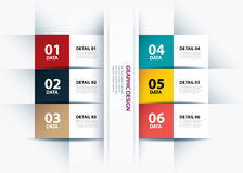 Business step paper lines and numbers design template. Stock Photography