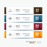 Business step paper and numbers design template Royalty Free Stock Photo