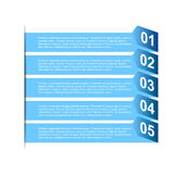 Business step paper and numbers design template Royalty Free Stock Photos